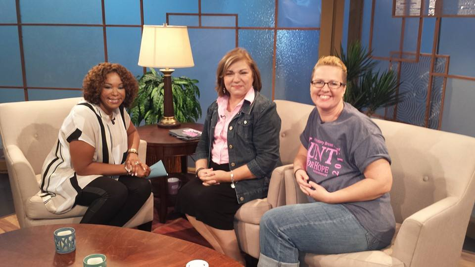 Debra Duncan with Terry Arnold and friend Staci on Great Day Houston.