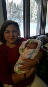 Terry Arnold with latest grandchild.